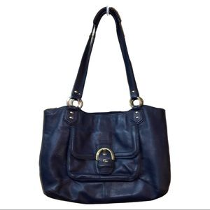 Coach Navy Cambell Hall Tote ORIG $415